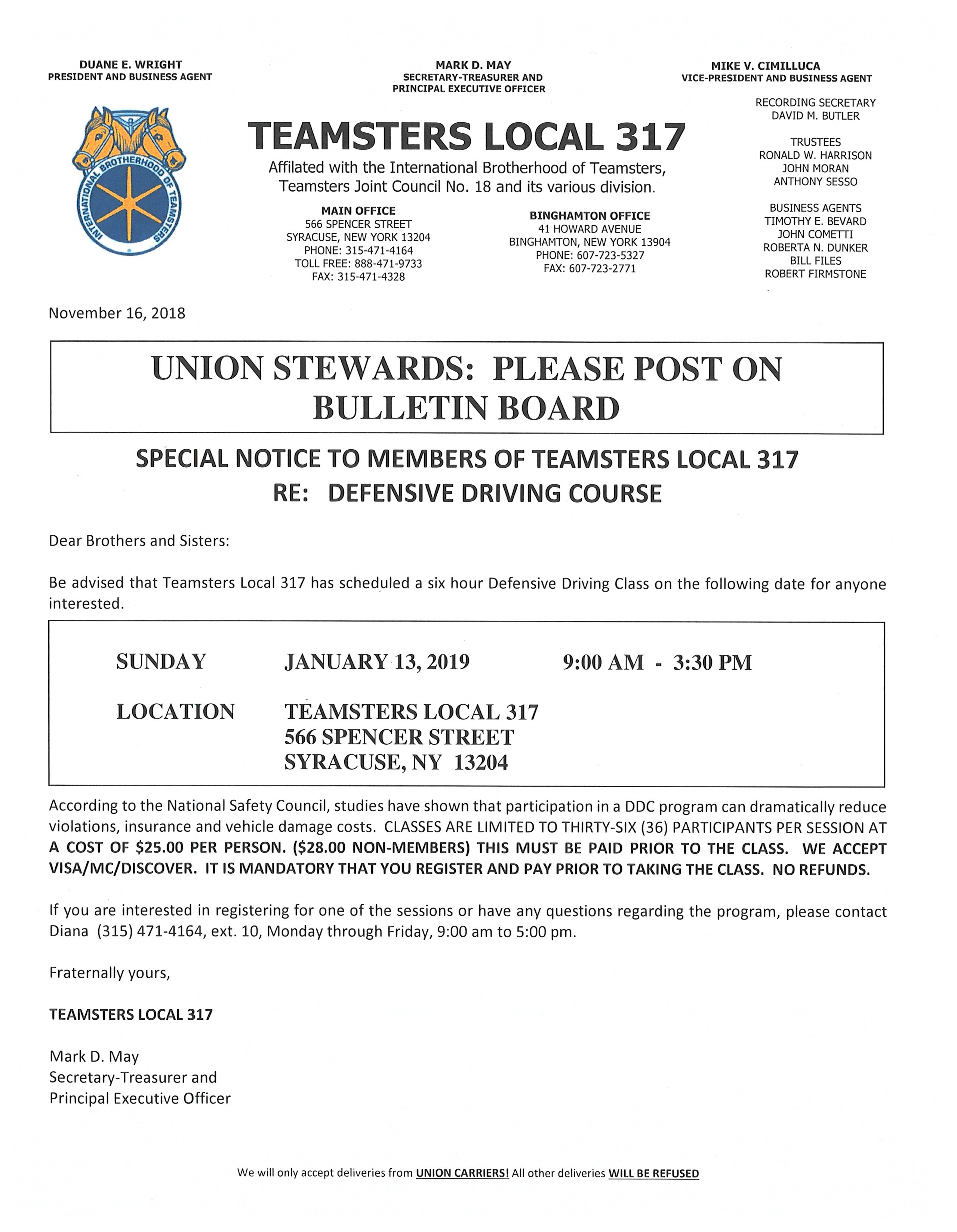 Teamsters Local 317